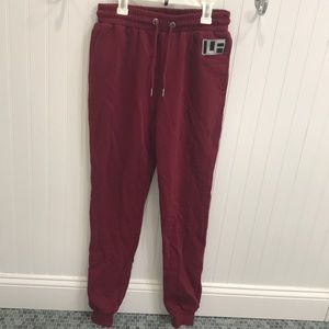 NEVER WORN Maroon Joggers Sweatpants